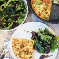 Salmon, Pea & Horseradish Frittata | Weight Watchers