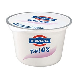 A pot of 0% fat fage yogurt