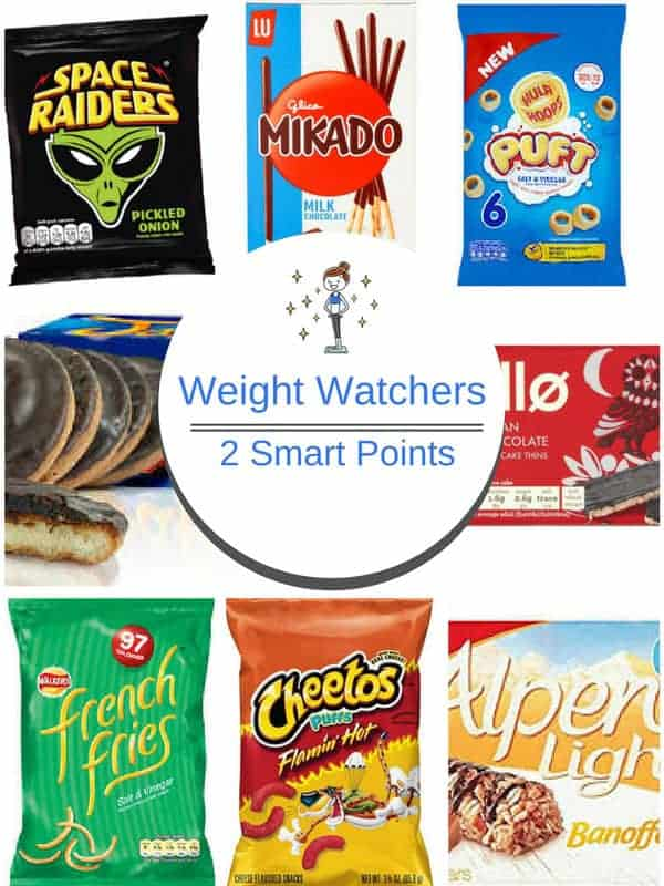 Picture of eight 2 Smart Points foods