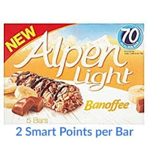 A box of Alpen Light Banoffee bars