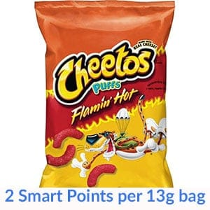 A bag of cheetos