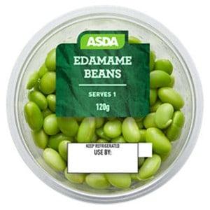 A pot of ASDA edamame beans
