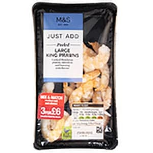 A packet of m&s king prawns