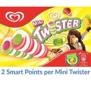 A box of Walls mini Twister Lollies