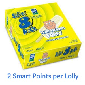 A box of Dale Farms Pear Picking Porky Lollies