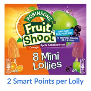 A box of Fruit Shoot mini lollies
