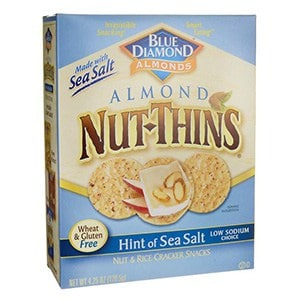 A box of Almond nut thins