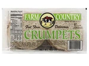 A packet of farm country fat free crumpets