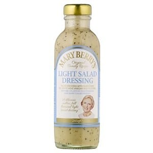 A bottle of Mary Berry Salad Dressing