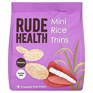 A bag of rude health mini rice thins