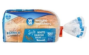 A loaf of Warburtons White Danish Weight Watchers Bread