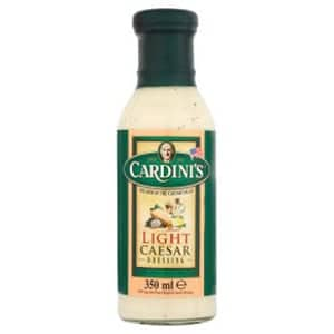 A bottle of Cardini's Caesar Dressing