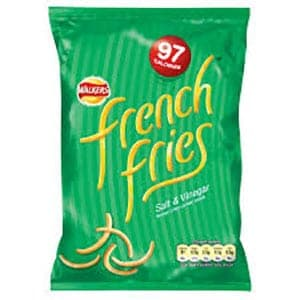 A bag of cheese and onion french fries crisps