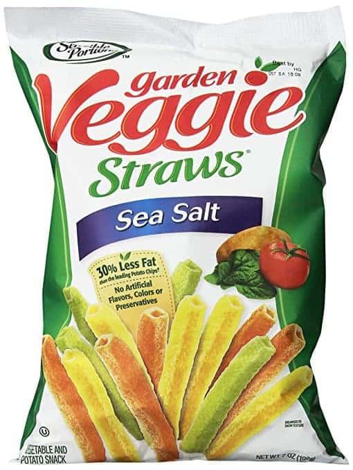 A bag of Garden Veggie Chips