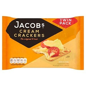 A packet of 2 Jacobs cream crackers