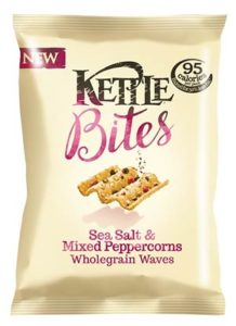 A bag of kettle bites crisps