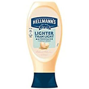 A bottle of Hellmanns Lighter than Light Mayonnaise