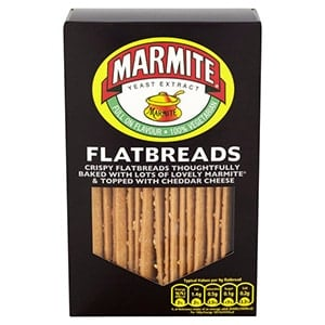 A box of marmite flatbreads