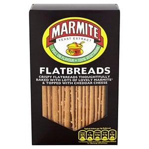 A box of marmite flatbreads