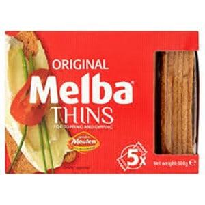 A box of original melba thins