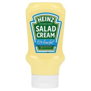 A bottle of Heinz Light Salad Cream