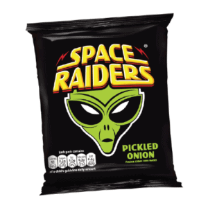 A packet of Pickled Onion Space Raiders
