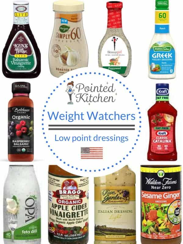 Low Point Salad Dressings | Weight Watchers | Pointed Kitchen