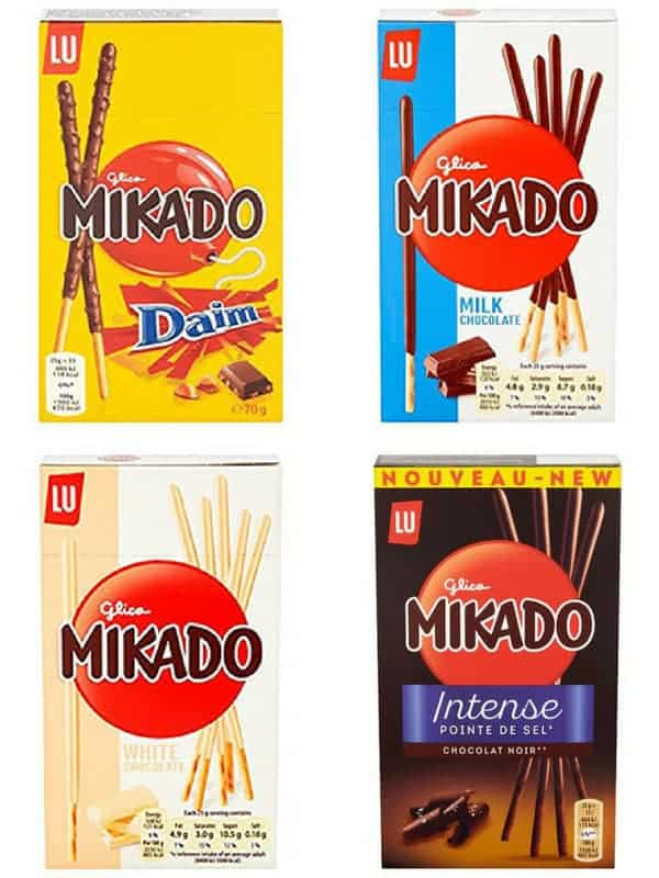 4 boxes of Mikado