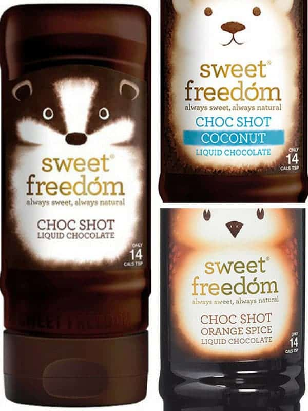 3 bottles of sweetfreedom choc shot