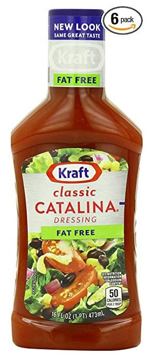 A bottle of fat free Kraft Classic Catalina dressing