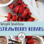 Strawberry kebabs made with mikado