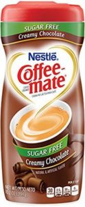 A bottle of chocolate coffee mate