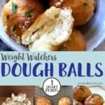 A collage of dough balls pictures