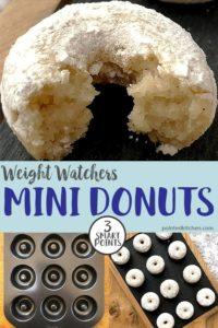 A sugar dusted mini donut