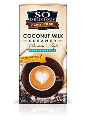 A carton of So Delicious coconut creamer