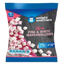 A bag of Weight Watchers Pink and White Marshmallows