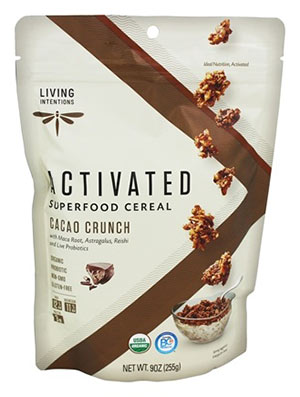 Low point cereal activated superfood cereal cacao crunch