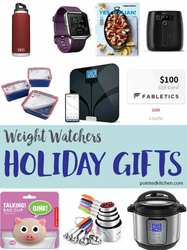 A collage of gifts for weight watchers