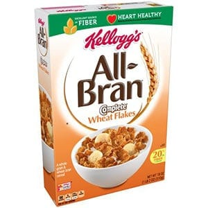 A box of All Bran - a low point cereal