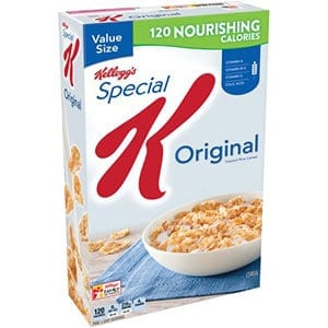 A box of special K - a low point cereal