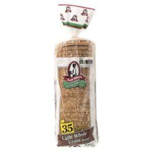 aunt millies 35 calorie - low point bread