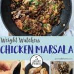 A skillet of chicken marsala weight watchers
