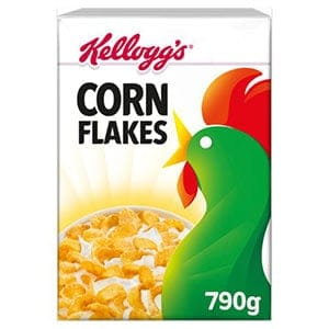 A box of Kelloggs cornflakes