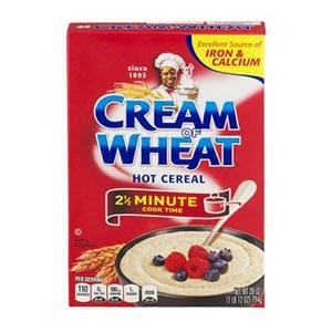 A box of Cream o Wheat - a low point cereal
