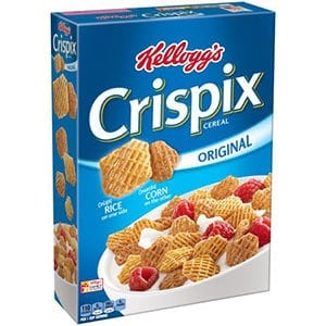 A box of Crispix - a low point cereal