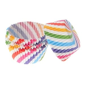 Colourful muffin cases