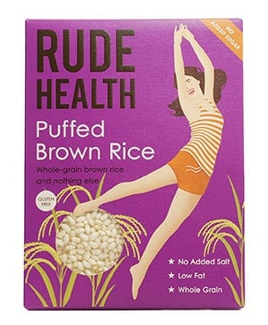 A box of rude health puffed rice