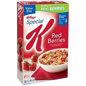 Low point cereal special k berries