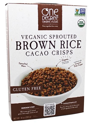 Low point cereal - vegan sprouted brown Rice Cacoa Crisps