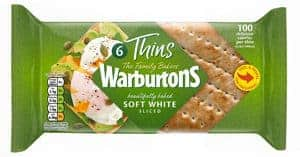 Low Smart Point Breads UK - warburton thin white